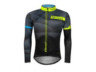 Bluza Ciclism Force Best Maneci Lungi Black/Fluo