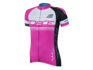 Bluza Ciclism Force Lux Dama Maneci Scurte Pink