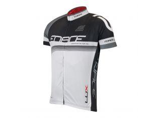 Bluza Ciclism Force Lux Maneci Scurte Black/White