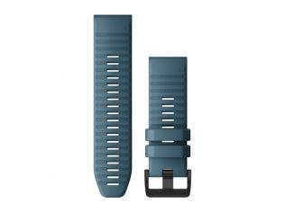 Curea Garmin Quickfit 26 Silicon Lakeside Blue cu striatii