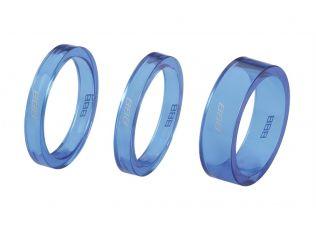 Distantier furca BBB BHP-37 1-1/8 2x5mm 1x10mm albastru transparent
