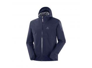 Jachete Alergare Barbati Salomon Xa 2.5L Waterproof Jacket Bleumarin