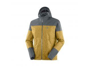 Jachete Alergare Barbati Salomon Xa 2.5L Waterproof Jacket Galben
