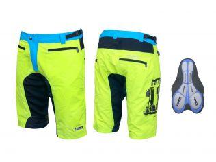 Pantaloni Scurti Force Mtb-11 Cu Interior Detasabil Green Fluo
