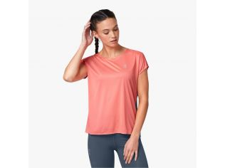 Tricou Alergare Dama On Performance-T Coral Storm