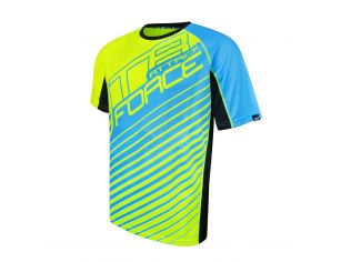 Tricou Force Mtb Attack Fluo/Blue