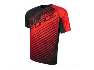 Tricou Force Mtb Attack Black/Red